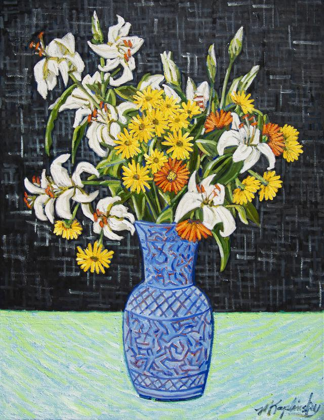 _dsc3002 lilies in blue vase 40x30 oil on canvas by matt kaplinsky _web.jpg