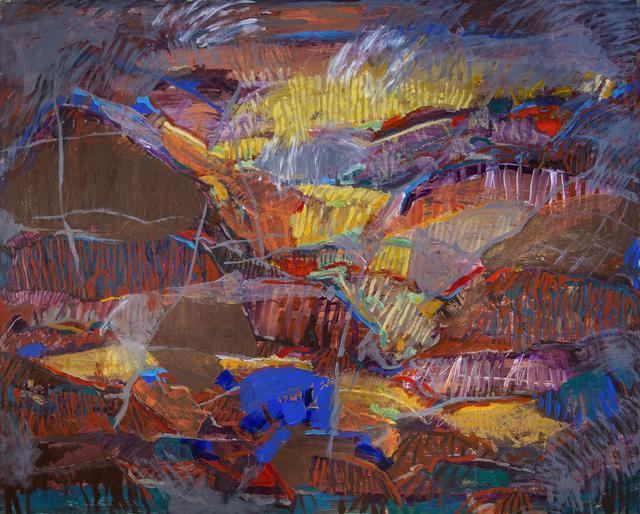 sunset among western formations _48x60 mixed media by matt kaplinsky _web.jpg