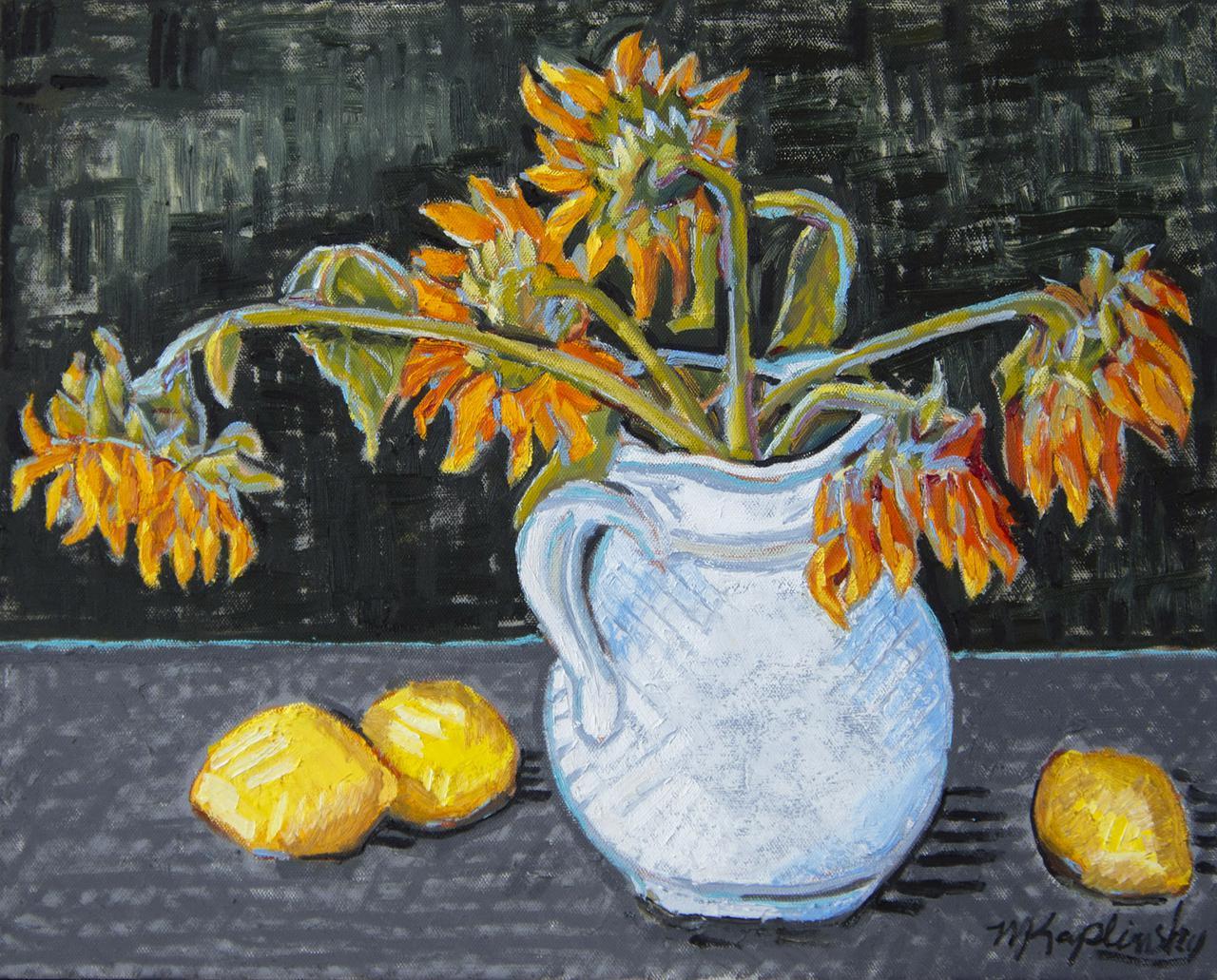 _dsc2243 sunflowers and lemons 16x20 inches oilon canvas by matt kaplinskky_web.jpg
