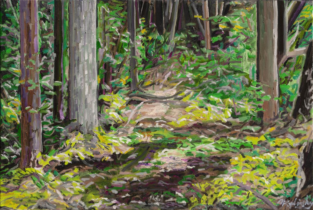 White Cedar Swamp 24x36 oil on canvas by Matt Kaplinsky .jpg