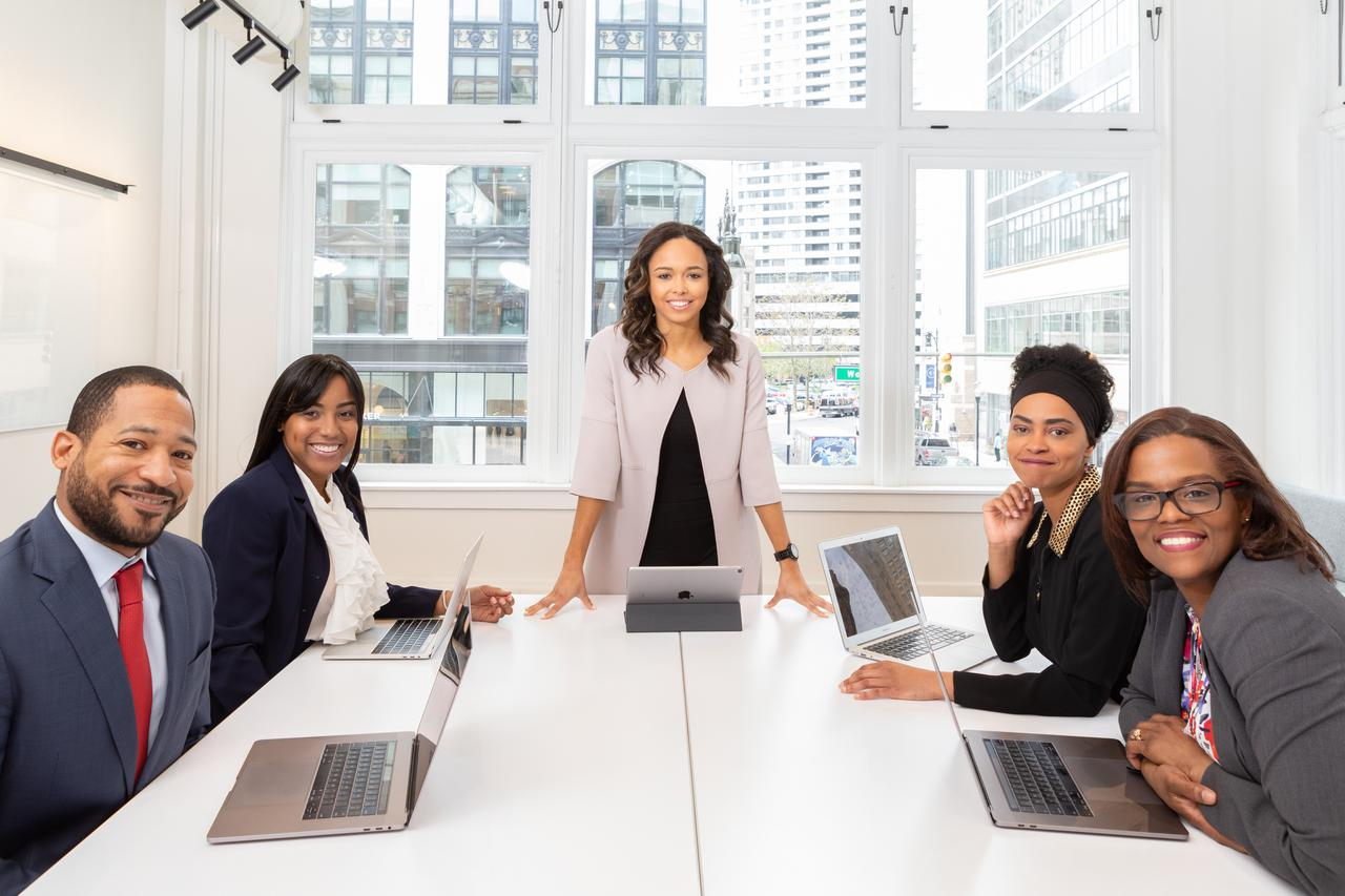 meeting in boardroom