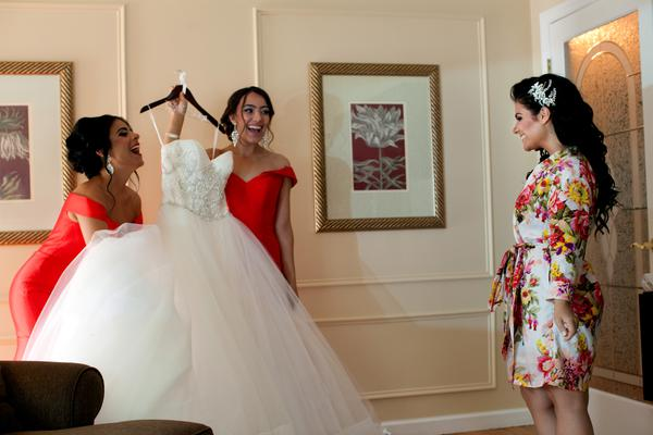 Presenting of the dress to the Bride