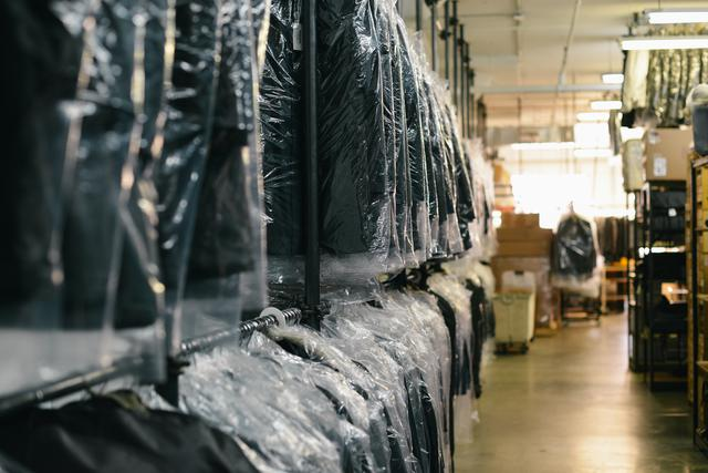 Dry cleaned clothes