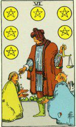 The Six of Pentacles