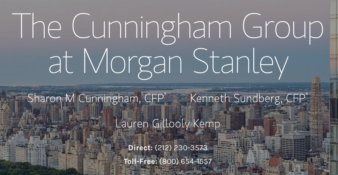 Presenting Sponsor - The Cunningham Group at Morgan Stanley