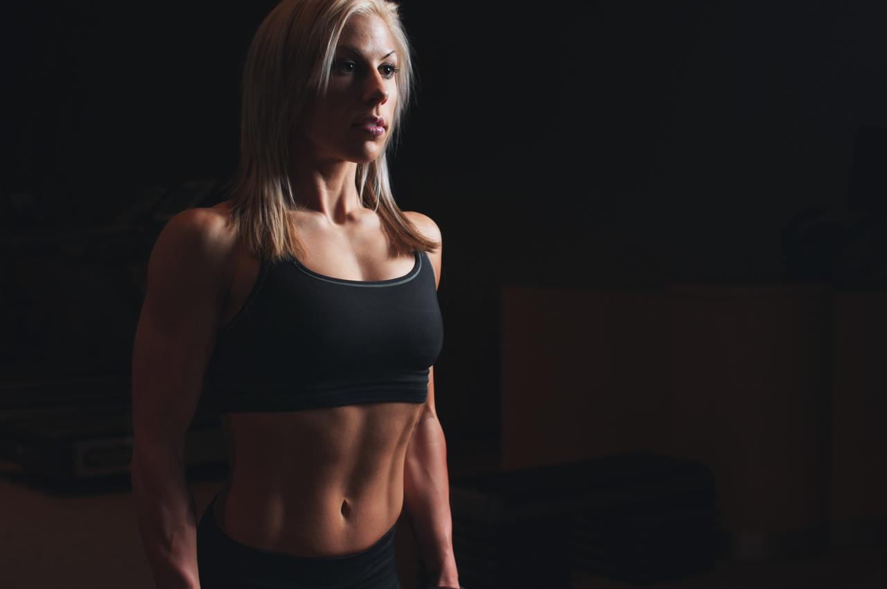 woman girl blonde fitness