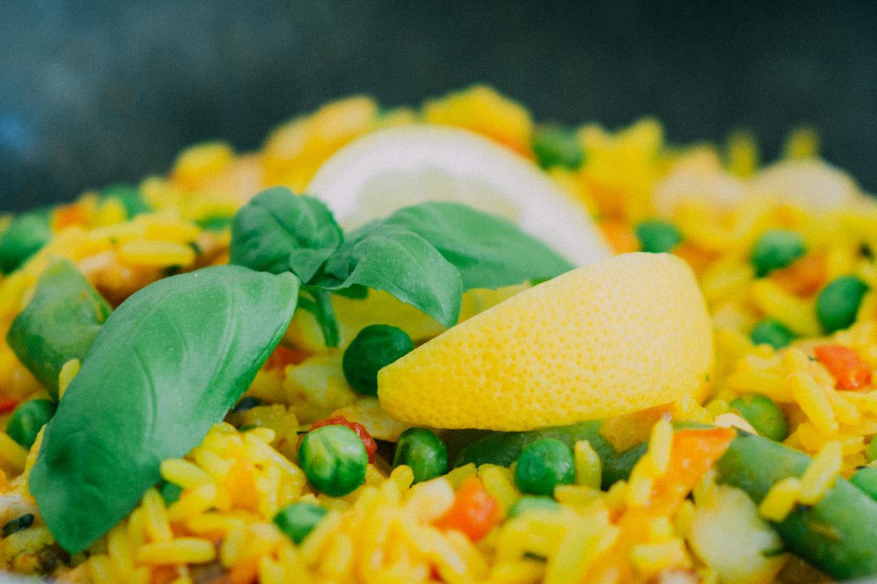 food salad rice healthy
