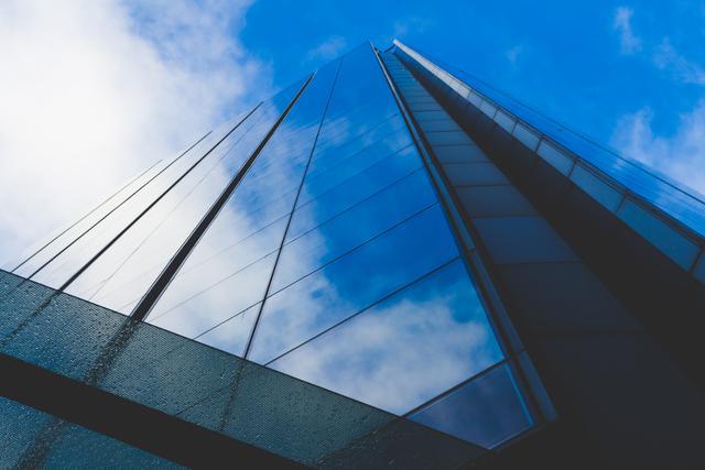 architecture blue sky building business